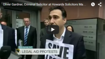 Oliver Gardner Interview BBC Television. Legal Aid Strike