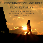 Special contributions and departure from equality